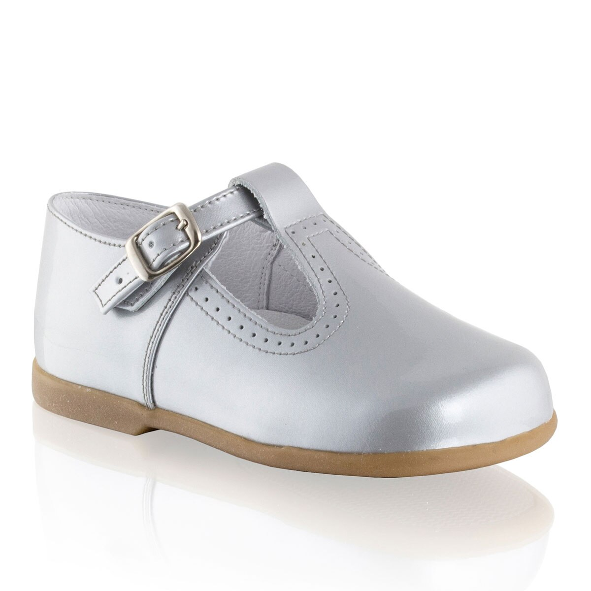 Russell and Bromley BUCKLE-T T-Bar Buckle Pram Shoe