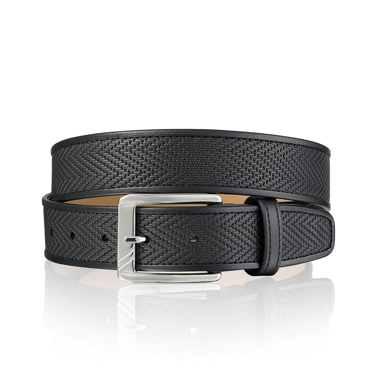 Russell and Bromley CHEVRON Mens Leather Belt