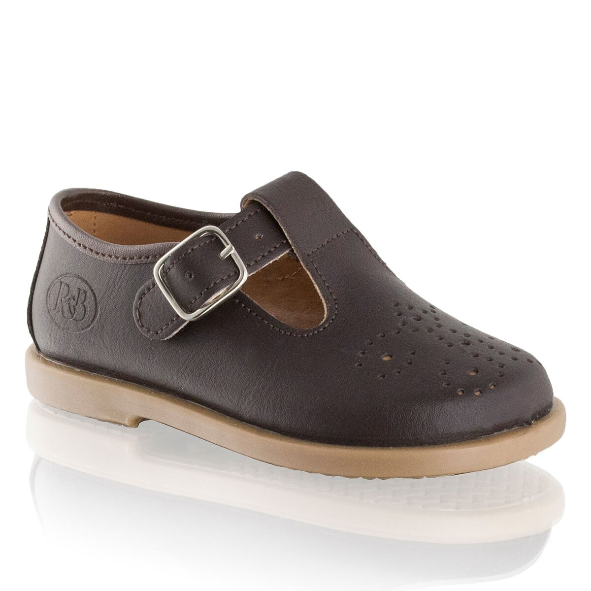 Russell and Bromley MILO Buckle T-Bar Brogue Shoe