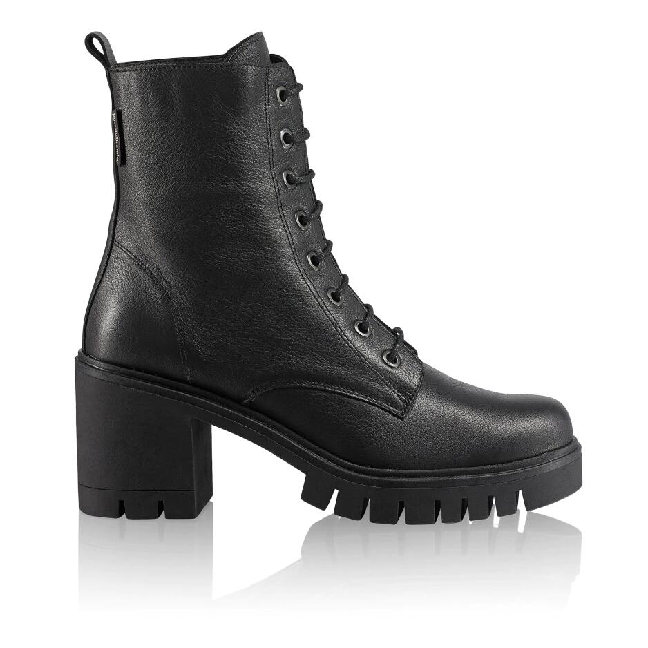 Russell and Bromley COMBAT HI Heeled Combat Boot