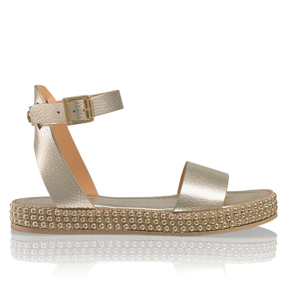 Russell and Bromley GOLD COAST Studded Flatform Sandal