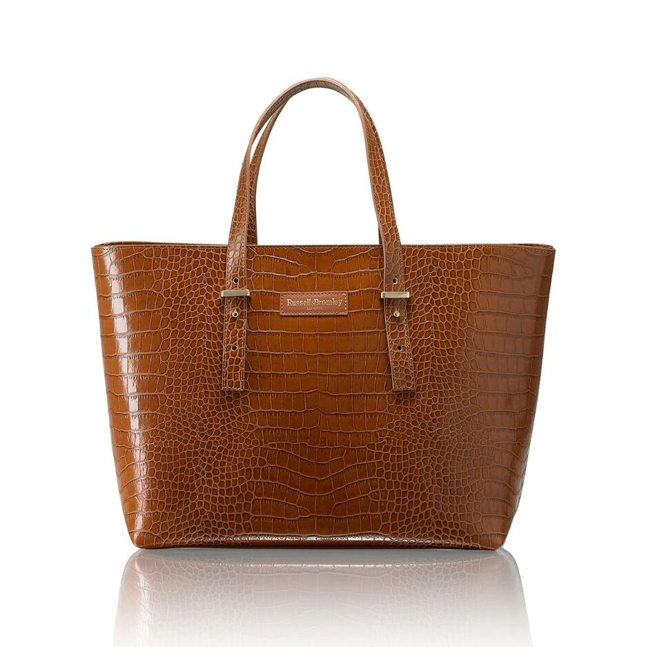 Russell and Bromley TABBI Croc Print Tote