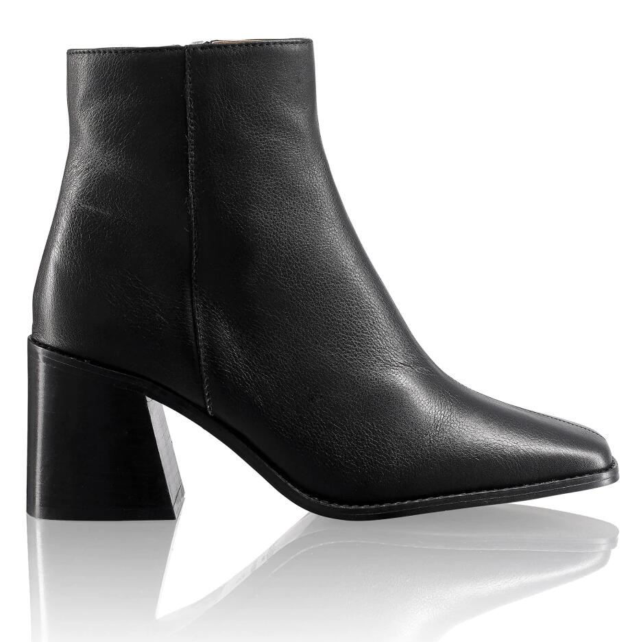 Russell and Bromley THE CUBE Squared Toe Ankle Boot