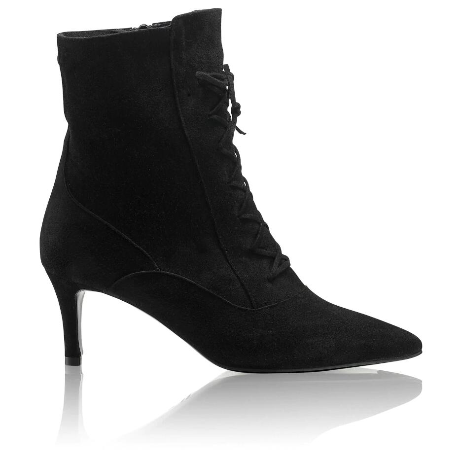 Russell and Bromley TIETHEKNOT Lace-Up Kitten Heel Boot