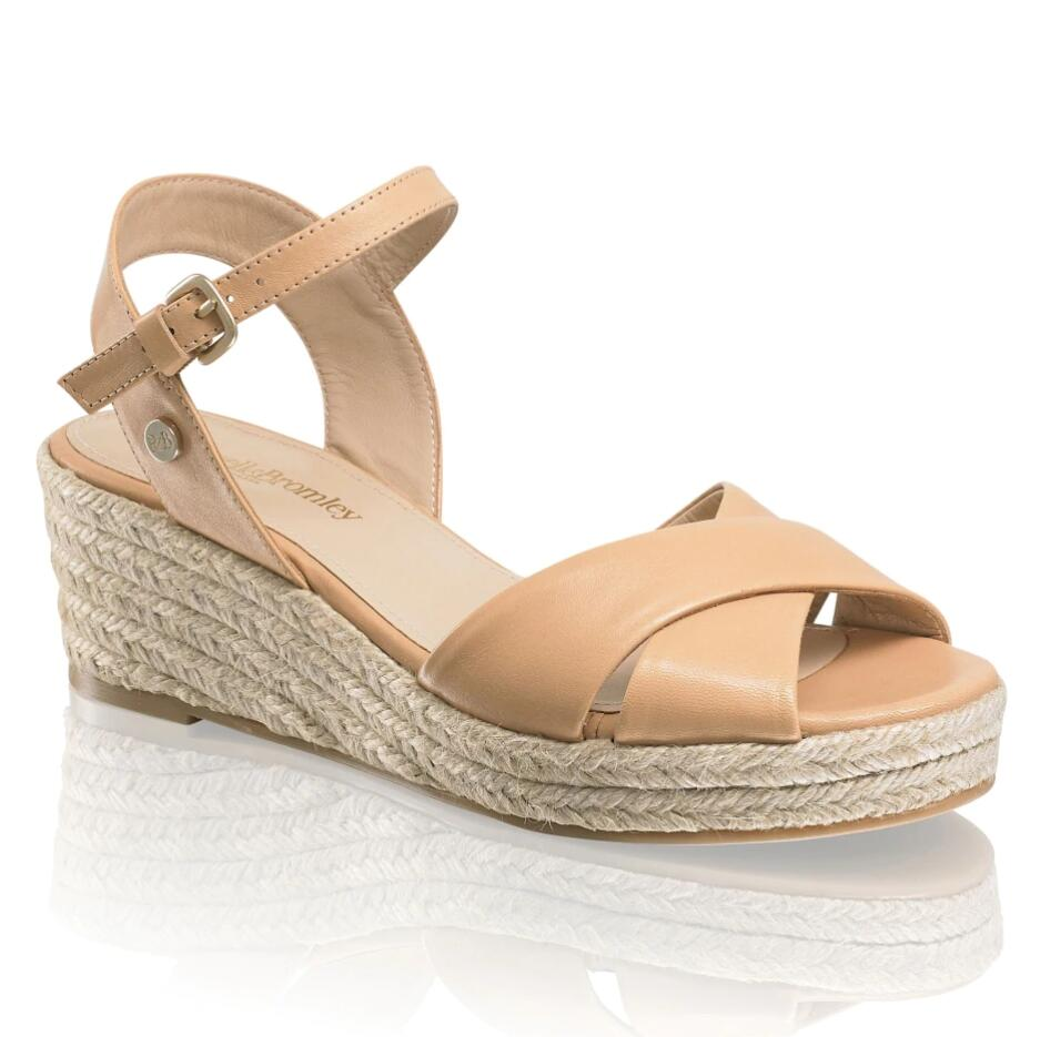Russell and Bromley GELATO Crossover Low Jute Wedge