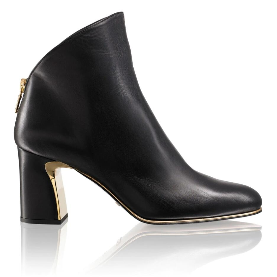 Russell and Bromley OVERLAY Block Heel Boot
