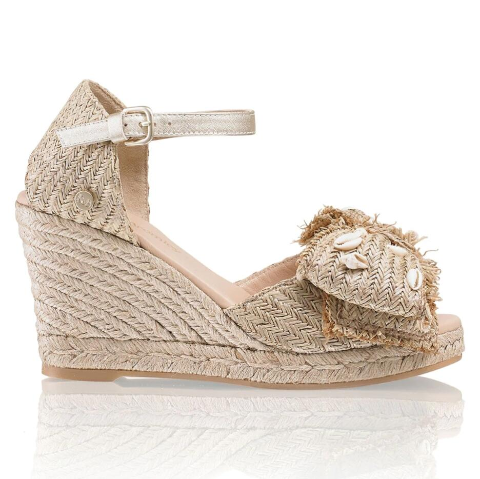 Russell and Bromley SHORETHING Shell Bow Wedge