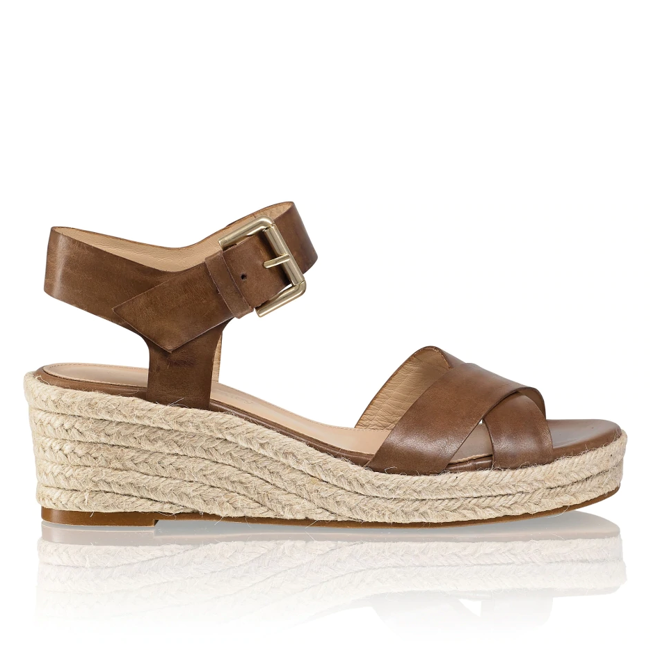 Russell and Bromley SUNDAE Raffia Low Wedge