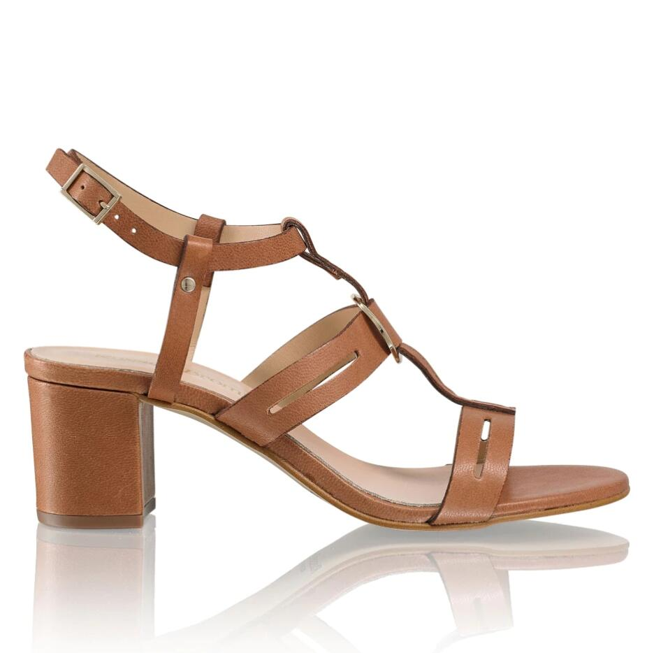Russell and Bromley TROPIC MID Block Heel Sandal