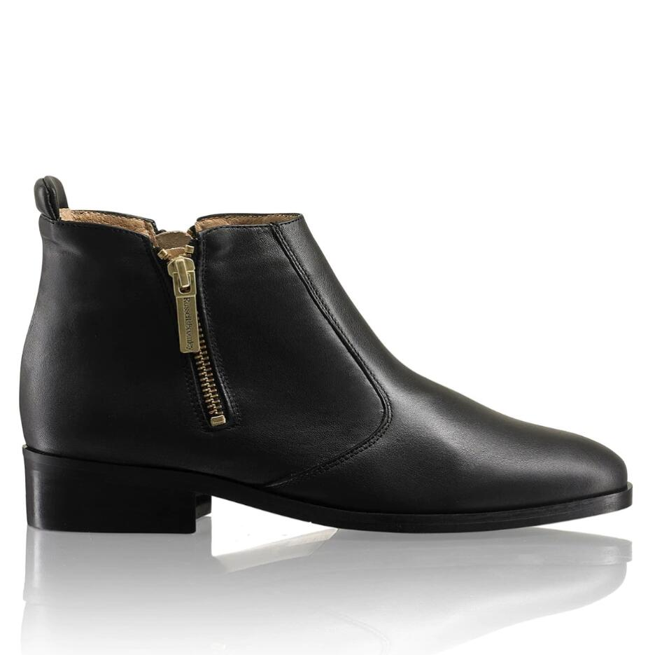 Russell and Bromley ZIP-WIRE Double Zipper Ankle Boot