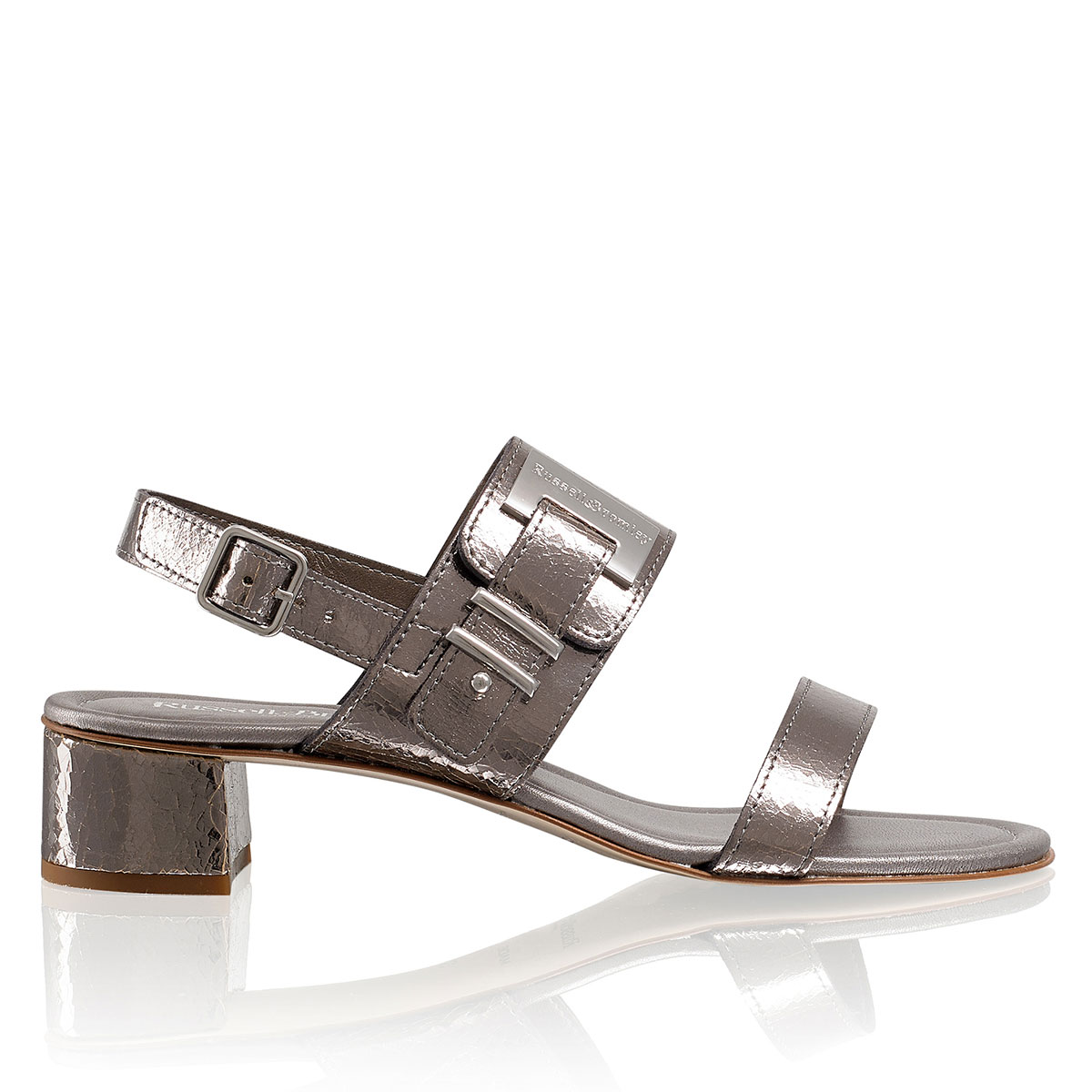 Russell and Bromley HOT PLATE Block Heel Sandal