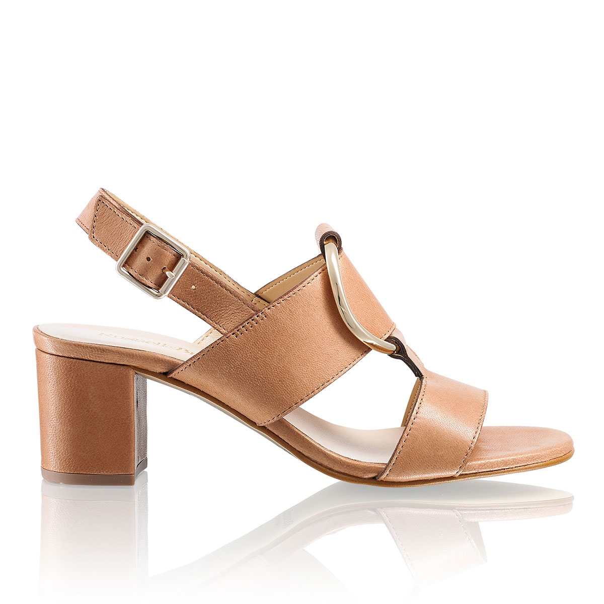Russell and Bromley TRICK Block Heel Sandal