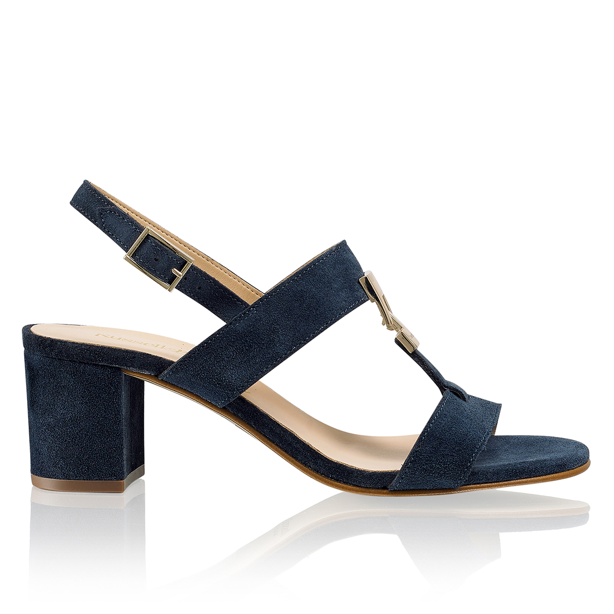 Russell and Bromley TROVE Block Heel Trim Sandal